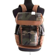 J-1516210 New Coach Green Camoflage Zip Bag Backpack