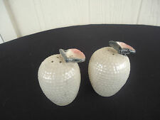 vintage retro oyster scallop shell salt and pepper shakers japan