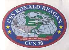 "USS RONALD REAGAN CVN 76 Decal 6""X 8"" US NAVY Military"