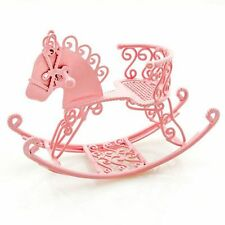 Pink Wire Nursery New Rocking Horse Chair 1:12 Doll's House Dollhouse Miniature