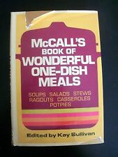 McCall's Book of Wonderful One-Dish Meals 1972 Vintage Cookbook Recipes