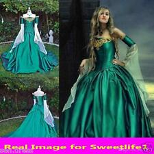 Vintage Medieval Renaissance Ball Gown Evening Princess Dresses Prom Formal Gown