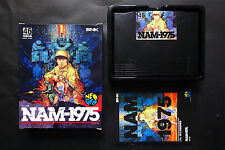 NAM 1975 Carton Box SNK Neo Geo AES Good.Condition JAPAN