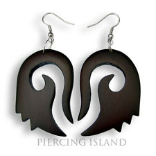 Ohrringe Hänger Goa Design Holz Wood Earrings Schmuck ER144