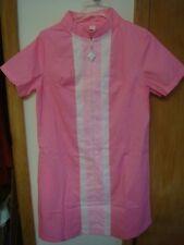 Vintage 1960s NOS NWOT dress MOD go go pink size L zipper summer men shift mad
