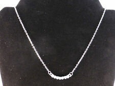 "Ladies Classic Style 7 Clear Crystals ""Smile"" Necklace"