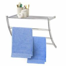 Bathroom Wall Rack Towel Rail Shelf Unit Storage