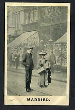 C1910 Comic Card - Married Couple Shopping.