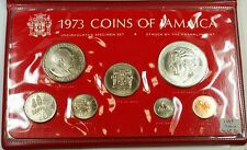 1973 Jamaica Uncirculated Specimen Set w/ Sterling Silver .925 5$ Coin