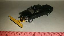 1/64 CUSTOM ERTL farm toy 2017 black dodge 2500 snow plow blade pickup truck