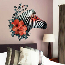 Removable DIY Decor Art Zebra Wall Decal Stickers Mural