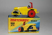 MATCHBOX SUPERFAST #21 ROD ROLLER STEAM ROLLER, RED DISC WHEELS, RED SEAT, BOXED