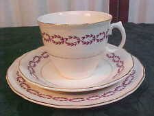 3pc Beautiful Royal Swan Decorative Cup/Saucer/Biscuit Plate