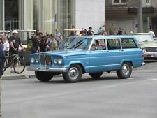Old Photo.  1964 Blue Jeep Wagoneer Automobile