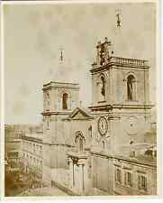 Malte, cathédrale la Valette  Vintage albumen print Tirage albuminé  20x25