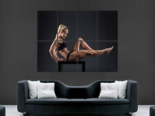 Sexy girl hot gym fitness poster tonique bodybuilder art mural grande image giant