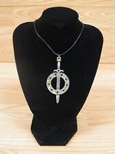 "Xena Warrior Princess Chakram & Sword 3"" Charm on Necklace **READ** *NEW*"