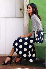 SOLD OUT Anthropologie DECO DOT MIDI SKIRT by HD in Paris polka dot sz. 10