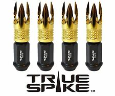 20 VMS RACING 89MM FORGE STEEL LUG NUTS W/ 24K GOLD POSEIDON FOR CHEVY CORVETTE