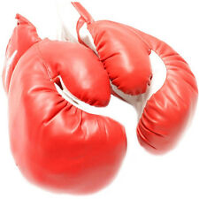 AGE 10-13 KIDS 10 OZ BOXING GLOVES YOUTH PRACTICE TRAINING MMA Faux Leather Red