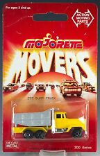 Majorette Die Cast #297 Dump Truck Yellow and Silver Gray MOC Made In France