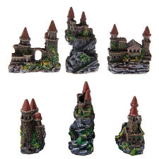 1Pc Polyresin Tower Castle Aquarium Ornament Fish Tank Decoration Accessories