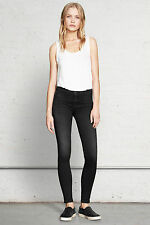 RAG AND BONE HIGH RISE WASHED BLACK LEGGING JEANS W25 UK 6/8