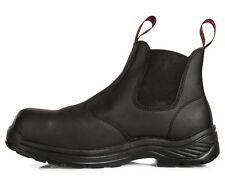 Hard Yakka Men's Ace Safety Pull Up Boot - Black-UK Mens 11