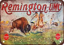 """Remington Arms and Ammunition 10"""" x 7"""" Reproduction Metal Sign"""