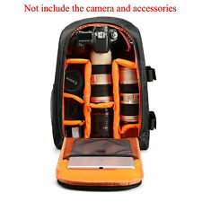 Outdoor Portable Multifunction DSLR Camera Bag Laptop Backpack Yellow Great
