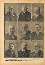 Portrait Claveille/Boret/Loucheur/Lafferre/Bourgeois/Viviani 1919 ILLUSTRATION