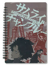 Samurai Champloo Spiral Notebook Note Book Anime NEW