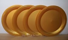 """Tupperware Open House Dinner Plates 11"""" Set 4 Gold Color  New!!"""