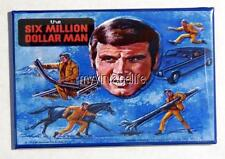 "Vintage SIX MILLION DOLLAR MAN TV SHOW Lunchbox 2"" x 3"" Fridge MAGNET Art side A"