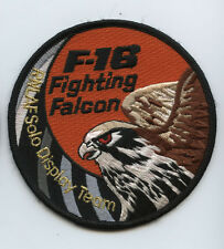 Royal Netherlands Air Force RNAF F-16 Fighting Falcon Solo Display Team Patch