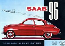 1960 Saab 96, RED, 2 Door Coupe, Refrigerator Magnet, 40 MIL