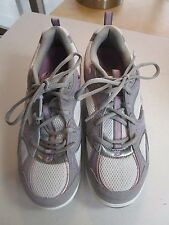 Skechers Shape Ups Gray Leather Athletic Running Sneaker Shoes Size Women's 9.5