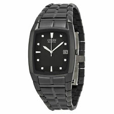 New Citizen Men's BM6555-54E Eco-Drive Black Ion-Plated Stainless Steel Watch