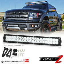24inch 120W SPOT+FLOOD Combo SMD LED Lights Bar Kit 4WD Jeep Truck Ram Silverado