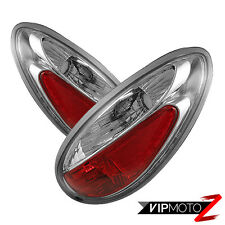!GREATDEALZ! 01-05 Chrysler Pt Cruiser Chrome Tail Lights Rear Brake Pair LH RH