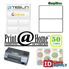 Complete Print @ Home Kit   Makes 50 PVC Like ID Cards   for InkJet Printers