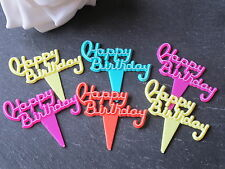 6 HAPPY BIRTHDAY CUPCAKE PICKS, CAKE  DECORATIONS CUPCAKE TOPPERS