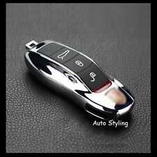 Chrome Key Fob Cover Remote Case Casing Shel Housing Side Replacement Porsche