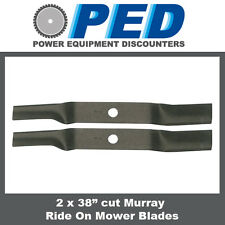 """2 x blades to fit 38"""" cut Murray ride on mower"""