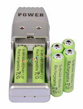 Batteria ricaricabile 6X AAA 3A 1800mah1.2V NiMH USB Charger + Verde