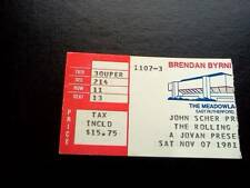 Rolling Stones ticket Brendan Byrne Arena E Rutherford New Jersey 07/11/81