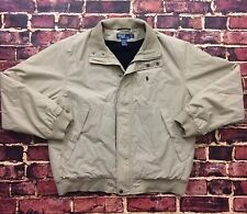 Vintage Polo Ralph Lauren Insulated Jacket L Large Beige Coat VTG 90s Pony