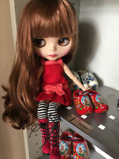 "12"" Neo Blythe Doll Brown Hair from Factory Joint Body Nude Doll CA9002"