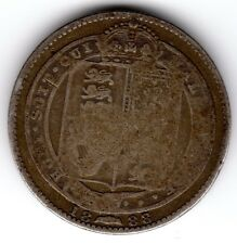 1888 12d 1s Silver ONE SHILLING twelve pence Queen Victoria Jubilee Head (a)