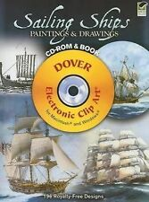 Sailing Ships Paintings and Drawings CD-ROM and Book (2008, Paperback)